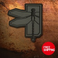 Haley Strategic Partners Dragonfly Dispruptive Grey PVC patch