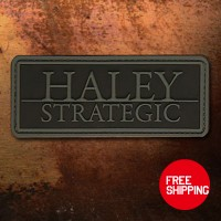 Haley Strategic Partners Disruptive Grey PVC patch