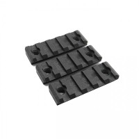 DYTAC 5-Slot Rail for KeyMod System (Polymer) (Pack of 3) Black